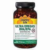 Country Life Ultra Omegas DHA EPA - 120 Softgels