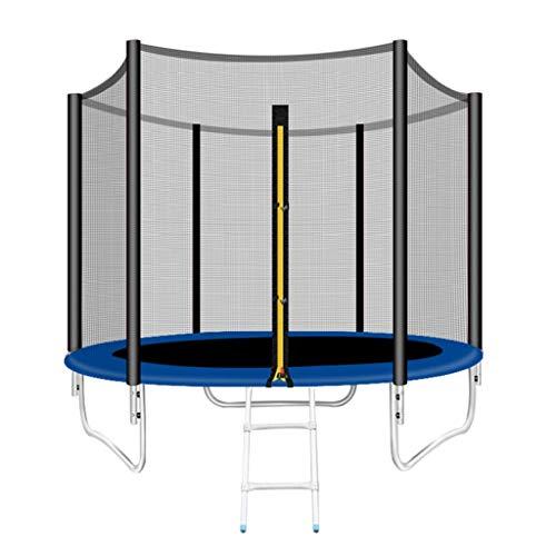CGF-Indoor Trampolines Trampoline Diameter 96In, met veiligheidsnet en ladder, Rits Deur - Springen en Rebound - Aerobics Trainer, Kan Accommoderen 5 Kinderen, Groot