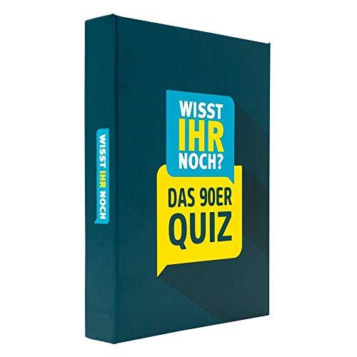 Wisst Ihr Noch? Das 90er Jahre Quiz als Kartenspiel mit 200 Fragen in 4 Kategorien. Ratespaß für Spieleabende, Kneipenquiz, Gesellschaftsspiel