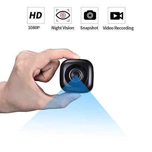 Video Mini WiFi Kamera,1080P HD Kleine Kamera 120 Grad Winkel Kompaktkamera Heimkamera,Kamera mit Nachtsicht Daueraufnahme Drinnen Draußen Mini Kamera