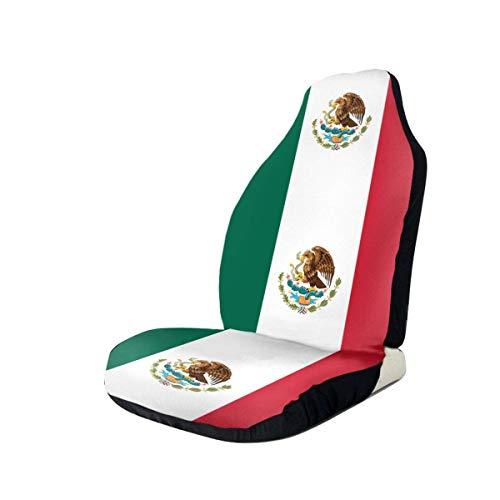 Qinckon - Fundas para asientos de coche universales de la bandera de México