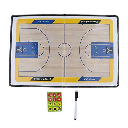 perfeclan Portapapeles de Sillones de Baloncesto Magnéticos/Tablero de Enseñanza de Baloncesto Ligero/Ayudas de Entrenamiento de Baloncesto Plegables