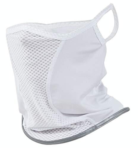 mcn涼しく日焼け対策!UVフェイスマスク、スポーツ用フェイスカバー リフレクター付きホワイト