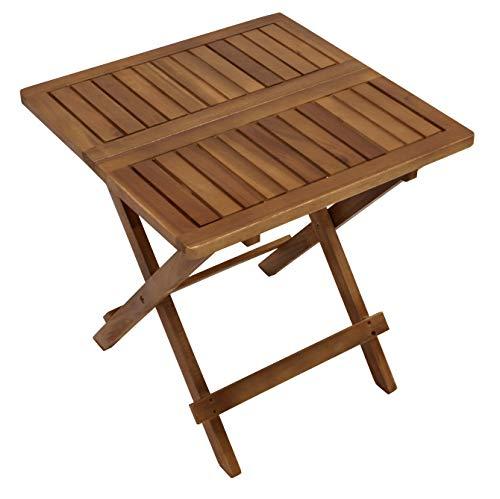 DEGAMO Beistelltisch Florencia 50x50cm, Höhe 50,5cm, mit Klappfunktion, Akazienholz Holz geölt