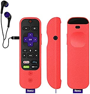 Remote Controls - Remote Case For Roku Ultra Remote Silicone Protective Cover For ROKU Enhanced Voice Remote For Roku Stre...