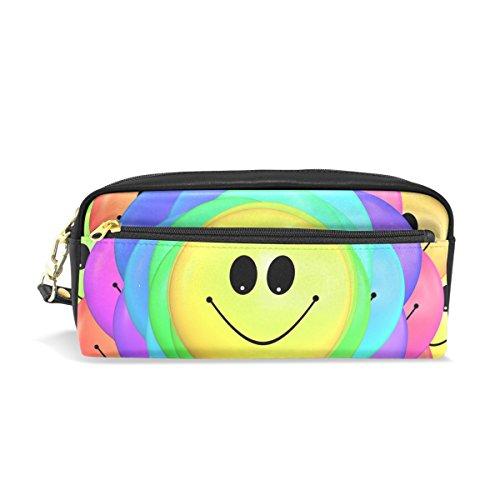 Bennigiry Emoji-Motiv, groß, für Kinder, aus PU-Leder, für Schule und Kosmetiktasche, klein Einheitsgröße Multi#002