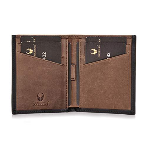 DONBOLSO® Geldbörse Bari Leder I Geldbeutel mit RFID Schutz I Portemonnaie für Herren und Damen I Slim Wallet