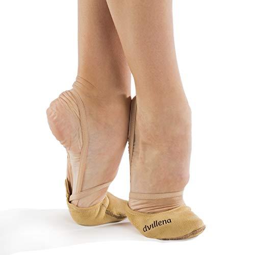 dvillena - Modelo Elite Sensación | Famosa Marca de Punteras de Gimnasia Rítmica Niña y Mujer | Las Puntas Que Usan Grandes Gimnastas Mundiales | Bailarinas Aérobica Deporte Danza Zapatillas Ballet