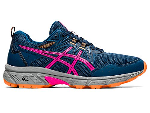 ASICS Women's Gel-Venture 8 Running Shoes, 9.5, MAKO Blue/Pink GLO