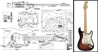 Plan de Fender Stratocaster Guitarra eléctrica–escala completa impresión