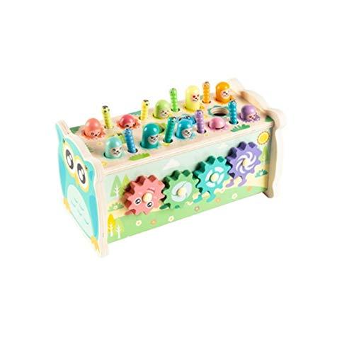 YYQIANG Juguetes de Cerebro educativos para bebés Juguetes para niños para niños y niñas de 2 a 6 años de Edad de Madera 5-en-1 Pesca Multifuncional Hamster para bebés Juguetes Aficiones Infan