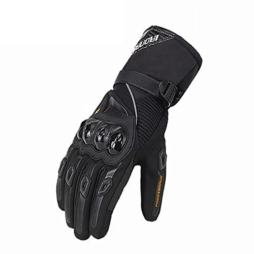 Guantes de Moto de Verano Transpirables Gant Moto de Malla para Hombre Guantes de Moto de Dedo Completo Guantes de Pantalla táctil Guantes de Montar en Moto-a119-XL