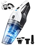 Holife handheld vacuum cleaner, 5KPA Powerful hand vacuum cordless rechargeable 2200mAh Lithium Battery