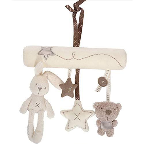 Linda Música Peluche Actividad Cochecito de Cuna Suave Juguetes de Bebé Cama Colgante Conejo Estrella Musical Móviles Decoración