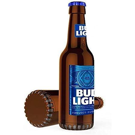 Budlight Bluetooth Bottle Speaker Authentic Design Wireless Bud Light Blue Speaker, Loud Audio Beer Speaker- BudLight Blue