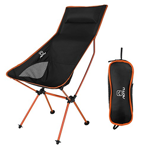 OUTAD Silla Plegable de Fácil Transporte para Camping/Playa/Pesca/Jardín (Naranja)