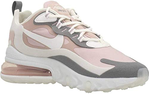 Nike W Air MAX 270 React, Zapatillas para Correr para Mujer, Multicolore (Plum Chalk/Summit White/Stone Mauve/Smoke Grey), 41 EU
