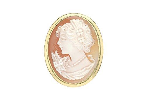 Carissima Gold Damen Brosche 9 Karat (375) Gelbgold 1.72.0075