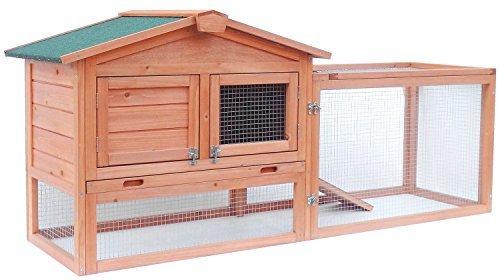 ALEKO ACCRH62X23X30 Wooden Pet House Chicken Coop Rabbit Hutch