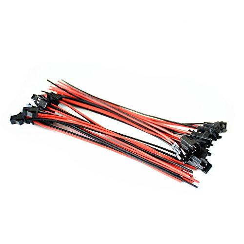 10 Paare 16cm Lange JST SM 2 Pin Stecker-Stecker auf Buchse Draht-Verbindungs
