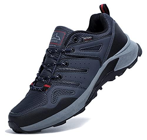 ASTERO Zapatillas Running Hombre Zapatos para Deportes Montañao Ligero Sneakers Casual Gimnasi Outdoor Trekking Transpirables Correr Talla41-46(Azul-1, Numeric 41)