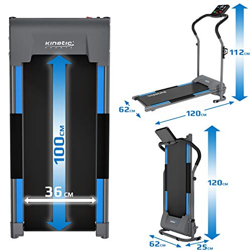 Kinetic Sports KST2500FX Laufband klappbar elektrisch flach leiser Elektromotor 500 Watt bis 120 kg, GEH- und Lauftraining, Lauffläche 36 cm breit, stufenlos einstellbar bis 10 km/h, 8 Programme - 7