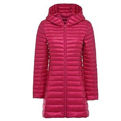RYDRQF fsh-901 - Chaqueta de invierno para mujer, muy ligera, con capucha, Mujer, rosa, large