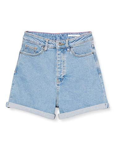 edc by Esprit Damen 040CC1C303 Jeans-Shorts, 903/BLUE Light WASH, 28