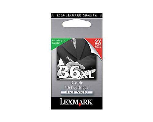 18C2170 Lexmark No.36XL - Cartucho de tinta negra de alto rendimiento (475 páginas), color negro
