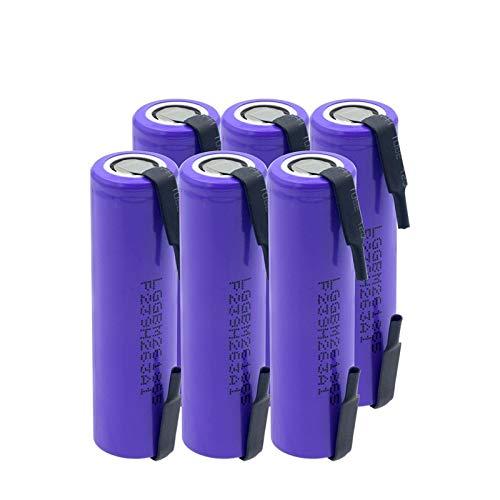 THENAGD Batería De Iones De Litio De Alto Drenaje 10a 3.7v 18650 2600mah, Batería De Litio M26 Batería Recargable para Linterna Aspictureshows