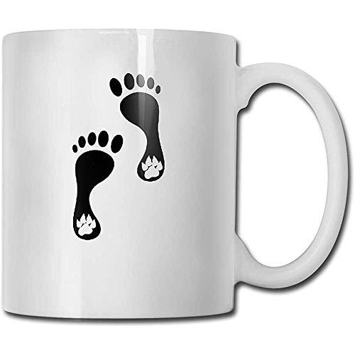 Impronte umane e di cani Tazza da tazza in ceramica Tazze da caffè fresche Tazza da viaggio in ceramica Tazza da tè 330 ml (bianco)