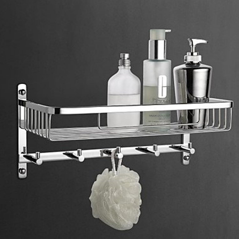 2016 MEIREN new arrival elegant design style functional Contemporary Chrome Bathroom Shelves