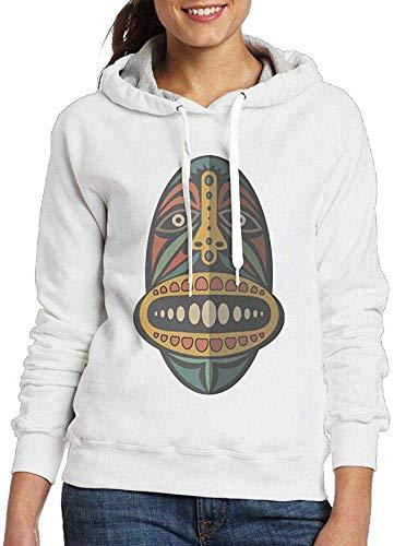 VLOOQ-HX Hoodie für die lustige afrikanische Maske der Frauen Nettes mit Kapuze Pullover-Sweatshirt