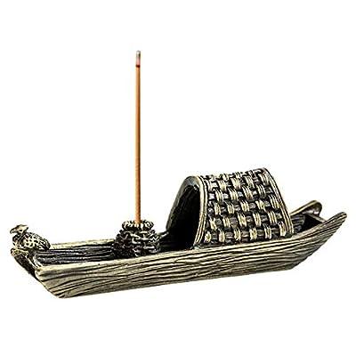 ZLCA Brass Fishing Boat Censer Stick Incense Ho...