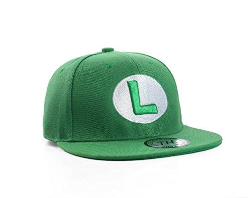 Gorra Snapback de Pico Plano Luigi Verde (Luigi Snapback Cap)