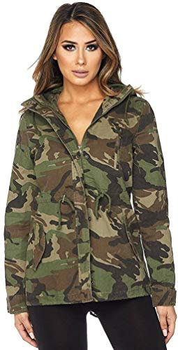Hooded Camouflage Anorak Jacket, Camo, Small