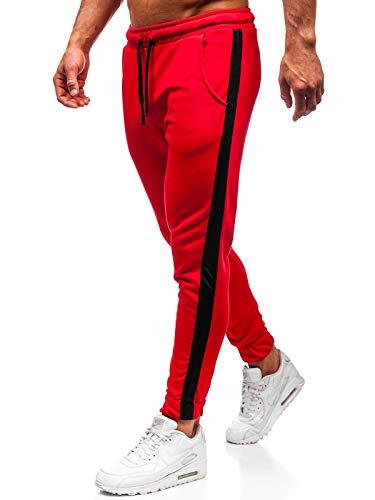BOLF Herren Sporthose Trainingshose Jogginghose Jogger Sportlicher Stil 11120 Rot L [6F6]