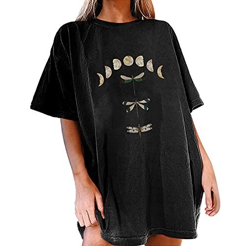 Camisetas Manga Corta Mujer Originales Estampada Divertidas Gato Leopardo Floral Moda Casual Blusa Mujer Verano 2021 Barata Blanca T-Shirt Deporte Tops Básica tee Shirts Camisa de Vestir