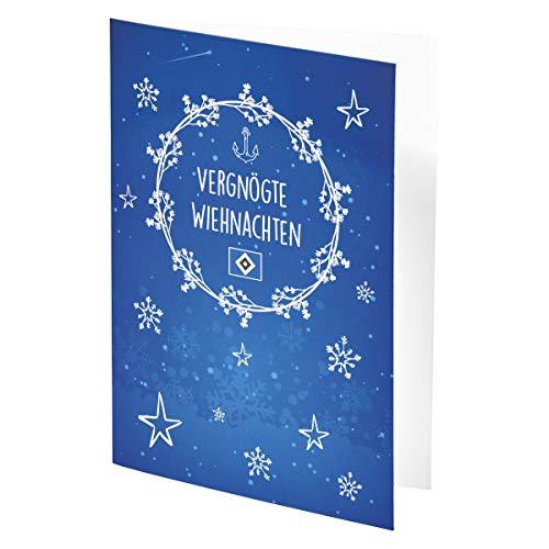 Hamburger SV HSV Karte/Weihnachtskarte/Grußkarte ** Vergnögte Wiehnachten ** 29748