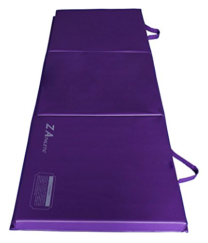 Z-Athletic Folding Panel Mats for Gymnastics, Yoga, Martial Arts, & Tumbling (2ft x 6ft x 2in,...