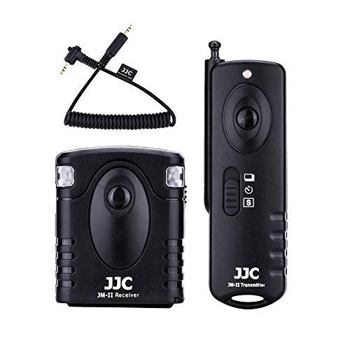 JJC Fernauslöser für Olympus OM-D E-M1 Mark II (30 Meter, 433 MHz) - Kompatibel mit Original Olympus RM-CB2 Fernbedienung Kabel Schalter