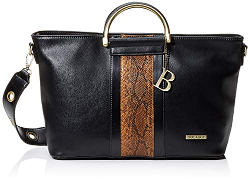 Bulaggi Fleur Handbag Handtasche, Damen, Schwarz (Schwarz), 12x24x34 cm (B x H x T)