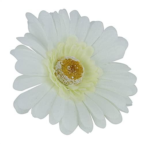 Coroa de flores artificial, delicada e durável, vívida e não tóxica, coroa de flores artificiais para banquetes de família.(Branco Leitoso (10 flores))