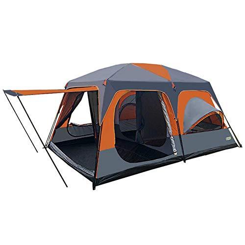 Zelten Family Camp Zelt Freien Zelt Camping Tragbarer Zelt Outdoor-Zubehör Campingbedarf unterbringen 8 Personen Leichtes Campings (Color : As Shown, Size : One Size)