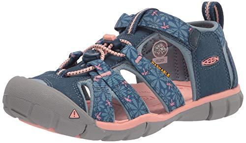 KEEN Seacamp II CNX-Y Sandal, Real Teal/Stone Blue, 34 EU