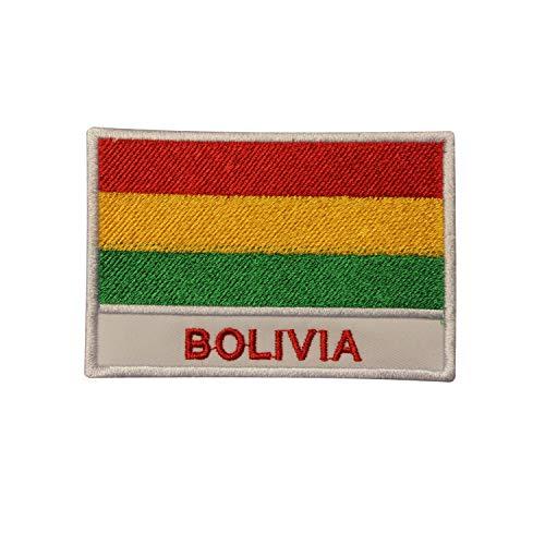 Parche con la bandera nacional de Bolivia, parche para planchar o coser o bordar