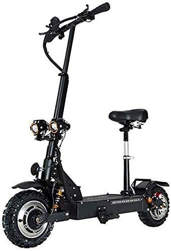 COUYY Elektro-Scooter Adult Folding Commuting Roller mit Sitz 11 Zoll Höchstgeschwindigkeit 85Km / H, Lithium-Batterie 60V 20AH, 3200W Doppel Motor Drive