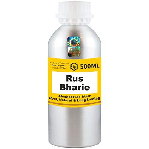 Parag Fragrances Rus Bharie Attar 500 ml Attar (Sans alcool, Attar longue durée pour hommes - femmes et usage religieux) Worlds Best Attar | Itra | Huile parfumée | Parfum