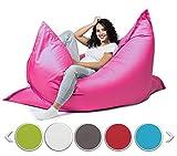 sunnypillow XL Sitzsack, Riesensitzsack Outdoor & Indoor 100 x 150 cm mit 140L Styropor Füllung Sessel für Kinder & Erwachsene Sitzkissen Sofa Beanbag viele Farben und Größen zur Auswahl Rosa