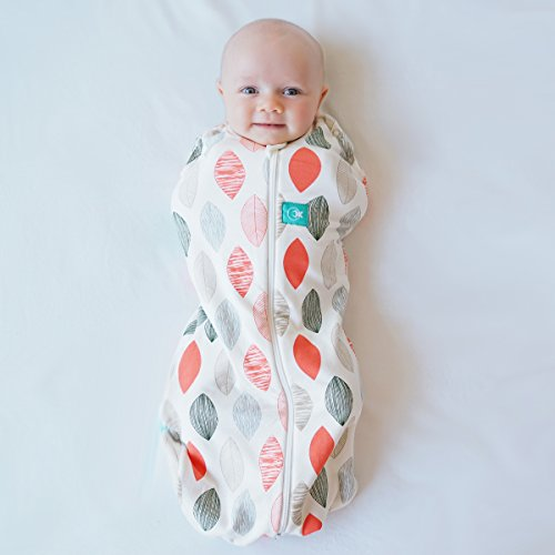 ergoPouch 0.2 tog Cocoon Swaddle Bag- 2 in 1 Swaddle Transitions into arms Free...